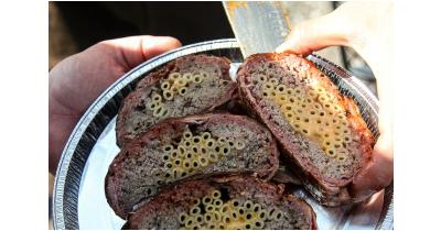 Рецепт мясного рулета с макаронами
