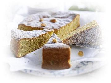 Ореховый пирог без молока и муки