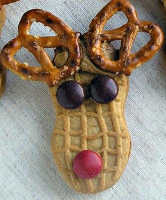 Печенье Олень Рудольф из готовового печенья