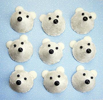 Как приготовить печенье для детей Белые медведи