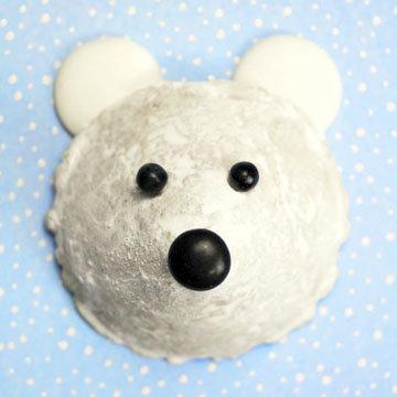 Мишка белый - печенье без выпечки