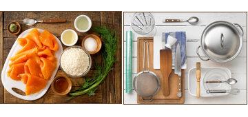 Продукты и посуда