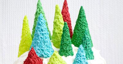 Рецепты на Новый год. Десерты без выпечки - зимний лес из шоколада