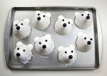 печенье для детей Белые медведи