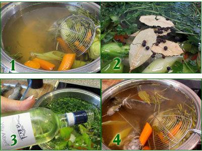 Как приготовить бульон и форель в бульоне