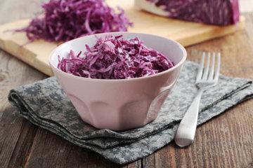 Рецепт Салат из краснокочанной капусты