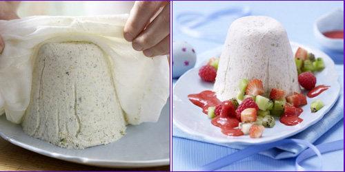 Десерт из творога - чудное блюдо полезное и вкусное!