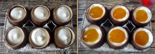 Украшение чизкейка - шоколадные яйца