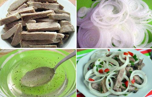 Мясной салат со свининой 1