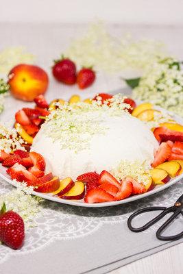 Десерты без выпечки - купол с ягодами 2