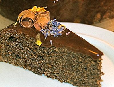 Маковый торт с тыквой