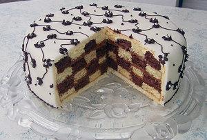 Оформление тортов. - Торт Шахматка