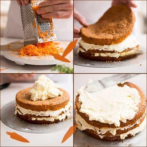 Приготовление тортов. Морковный торт