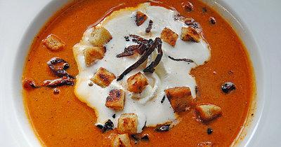 Рецепт овощного супа - с красным луком