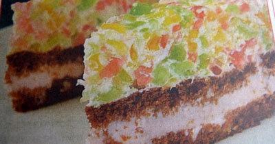 Желейный торт без выпечки Радуга