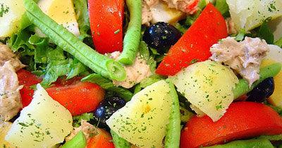 Постный стол. Картофельный салат рецепт калифорнийский
