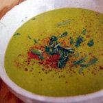 Постный суп со шпинатом