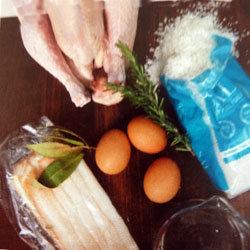 Готовим курицу в соли 1