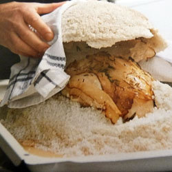 Готовим курицу в соли 9