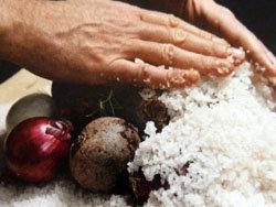 запеченные овощи в соли 1