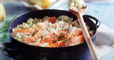 Приготовление рыбы - с рисом в 1 посуде