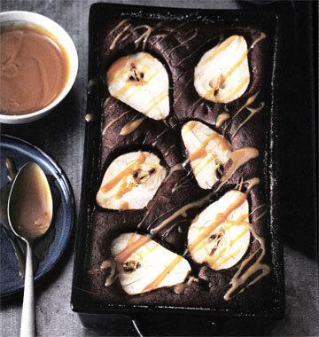 3. Шоколадная запеканка с грушами