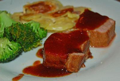 Подать мясо с овощами