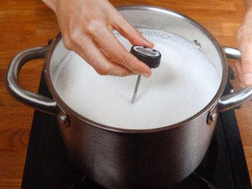 8. замерить температуру молока