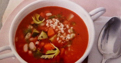 Суп с перловкой Летний