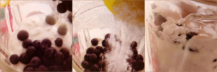1. Десерт Для детей черничное мороженое