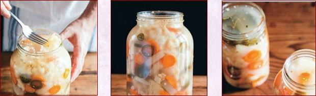 Последовательность закладки овощей для ферментации. Таблица 4