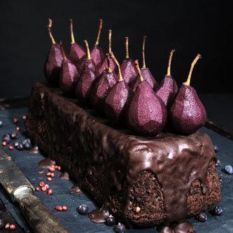 ароматный пирог с грушами
