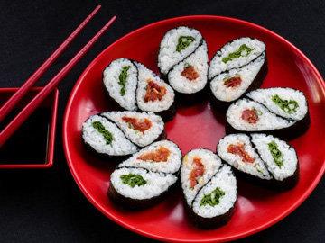 вегетарианский вариант суши
