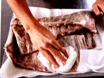 Мясо достать из пакета