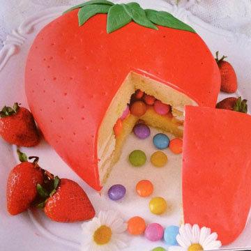 Торт для детей Клубничка