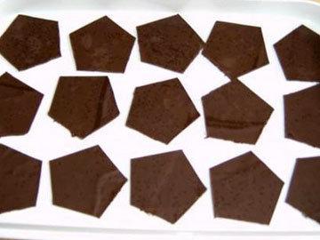 Вырезать шестиугольники из шоколадного квадрата