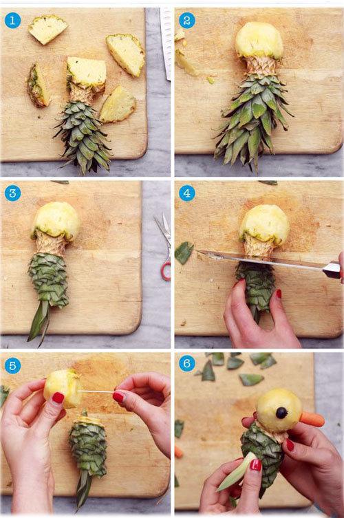 Украшения блюд из ананаса 1