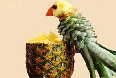 Украшения блюд из ананаса
