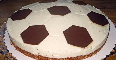 Шоколадный торт без выпечки Футбол