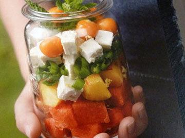 1. Салат арбузный с фетой