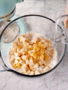 Пирог пай со сладкой начинкой (ягоды черники) 1