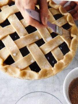 Пирог пай со сладкой начинкой (ягоды черники) 14