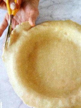 Пирог пай со сладкой начинкой (ягоды черники) 7