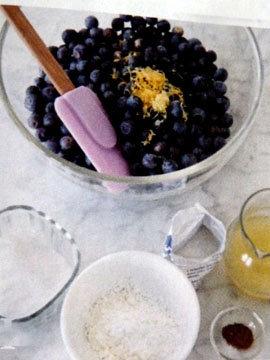 Пирог пай со сладкой начинкой (ягоды черники) 8