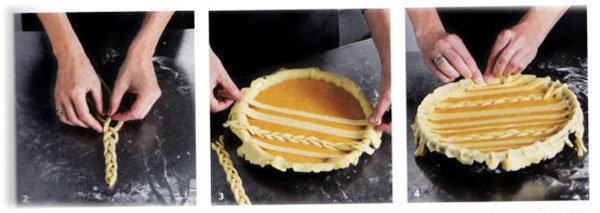 Пирог пай с овощной начинкой (тыква) 1