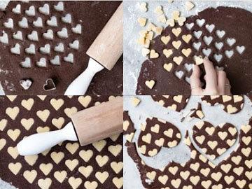Кулинарный мастер класс Двухцветное печенье для детей