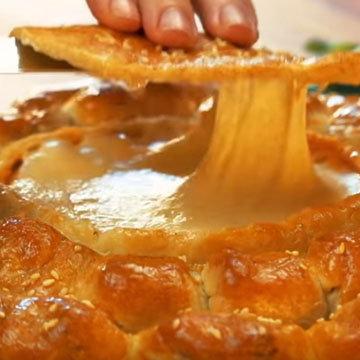 Сырное фондю с колбасками 10