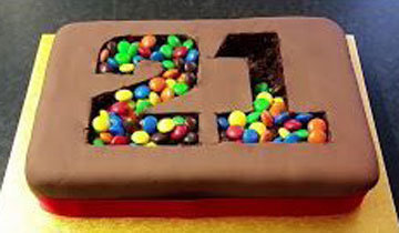 Торт на День рождения с цифрами 3
