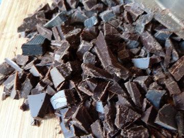 Порубить шоколад