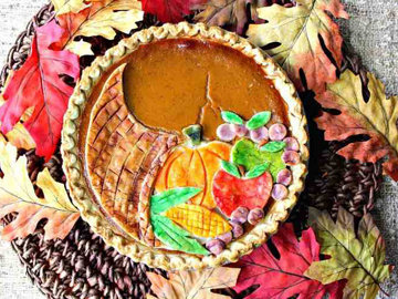 Тыквенный пирог Осенний 2